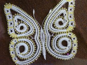 Výstava paličkovaná krajka - motýl